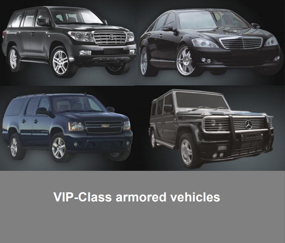 VIP CLASS ARMORED VEHICLES